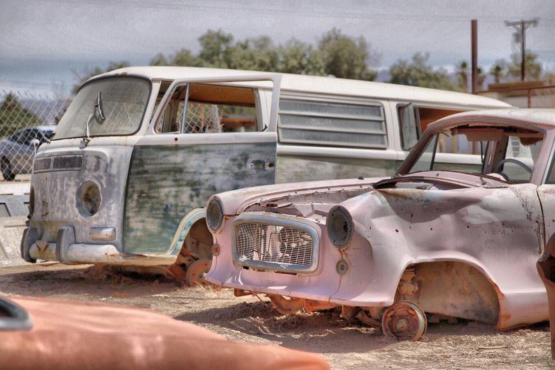 Auto op de sloop
